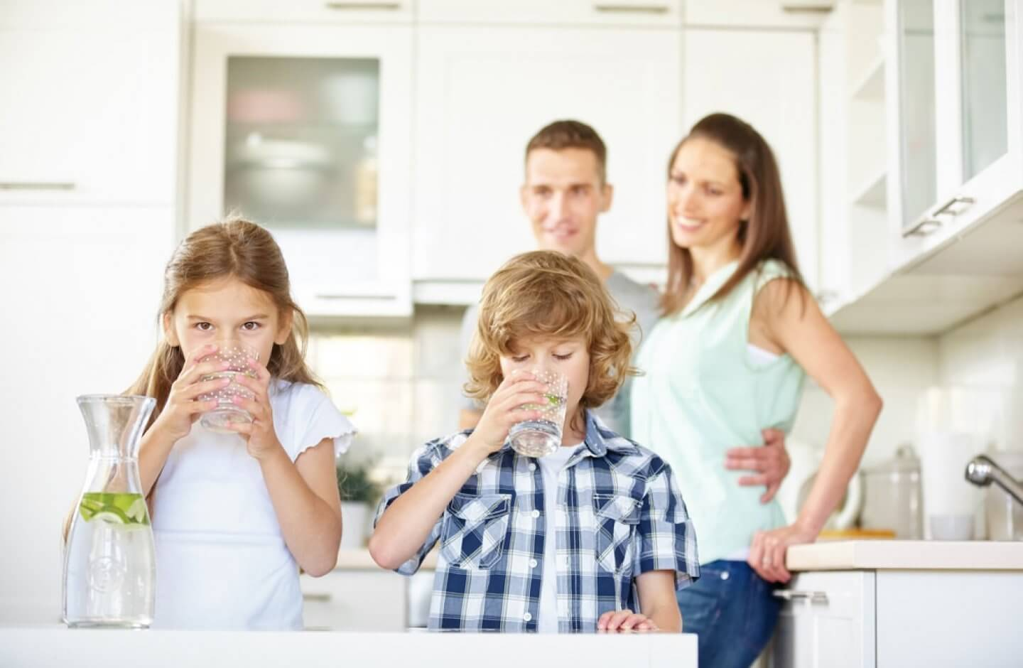 Children enjoy clean, better-tasting water from whole house water filtration system