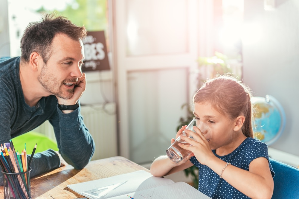 Daughter enjoys cleaner, healthier water from water softener system