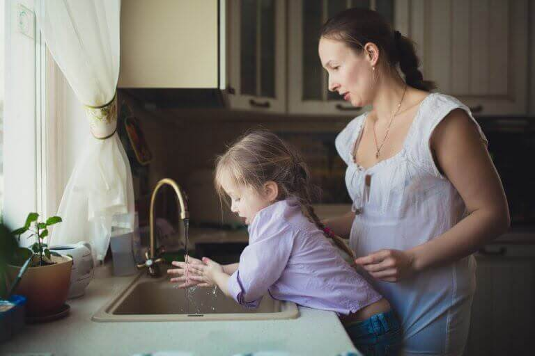 Mom and daughter enjoy cleaner water and cost savings from whole house water filters